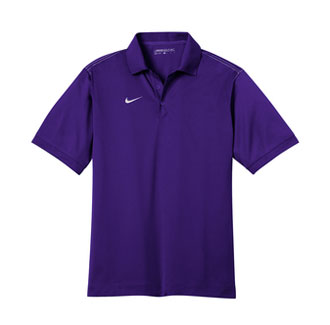 Court Purple Nike Dri-FIT Sport Swoosh Pique Polo With Logo