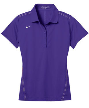 Court Purple Nike Dri-FIT Ladies Sport Swoosh Pique Polo With Logo