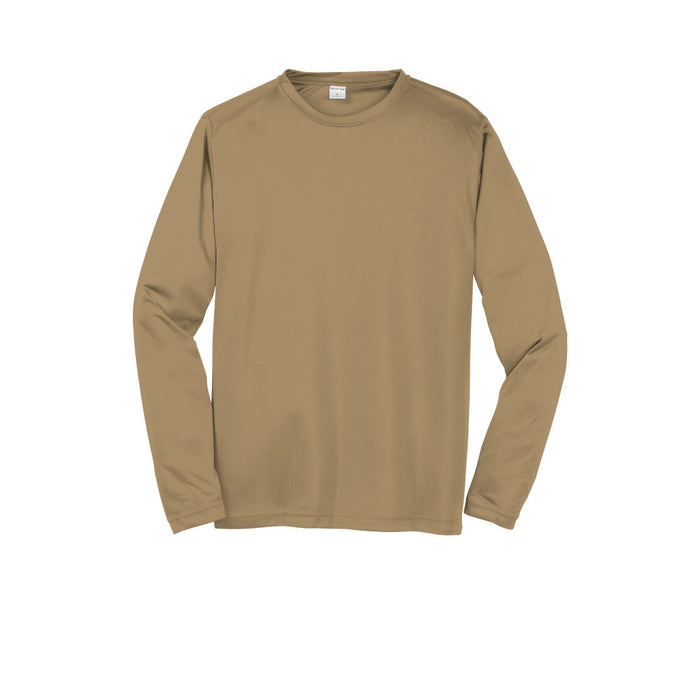Coyote Brown Custom Long Sleeve Dry Performance T-Shirt