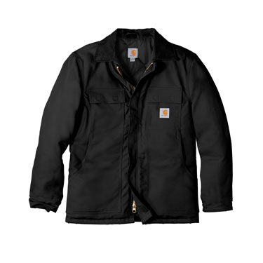 Black Custom Carhartt Duck Coat Jacket