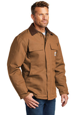 Custom Carhartt Duck Coat Jacket with logo