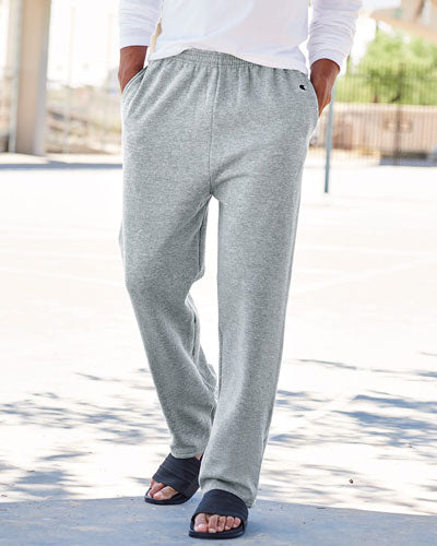 Custom Champion Double Dry Eco Open Bottom Sweatpants with Pockets