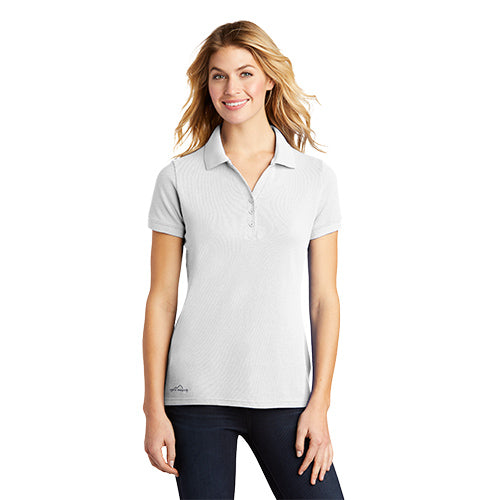 Custom Eddie Bauer Ladies Cotton Pique Polo