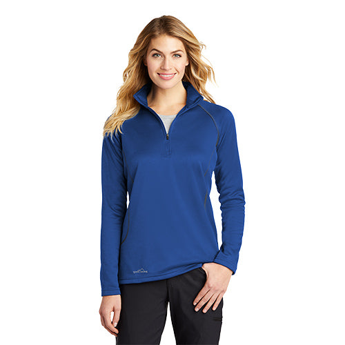 Eddie Bauer Ladies Smooth Fleece Base Layer 1/2-Zip