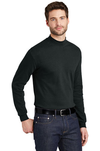Embroidered Mock Turtleneck