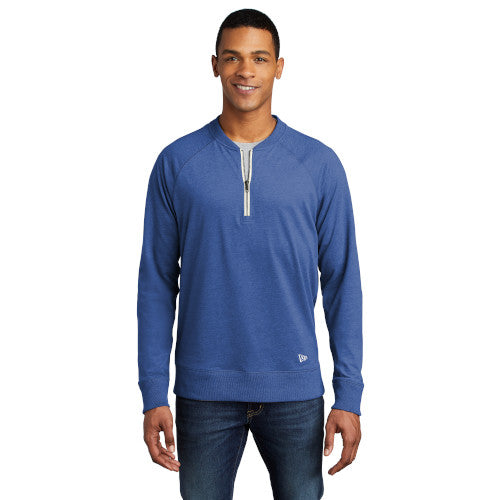 Custom New Era Sueded Cotton Blend 1/4-Zip Pullover