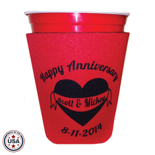 Custom Solo Cup Style Koozie with logo