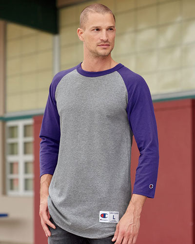 Custom Champion 3/4 Raglan Sleeve Baseball T-Shirt