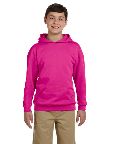 Cyber Pink Custom Jerzees Youth Hooded Sweatshirt