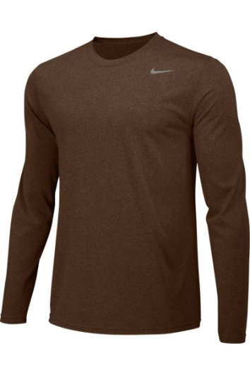 Dark Cinder Custom Nike Dri-FIT Long Sleeve T-Shirt