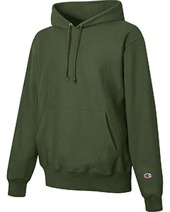 Dark Green Custom Champion Heavyweight Hooded Sweatshirt