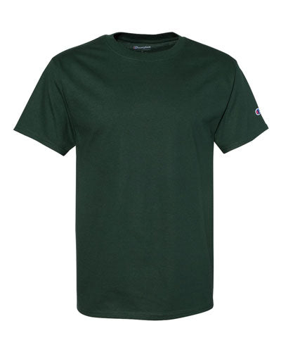 Dark Green Custom Champion Short Sleeve T-Shirt