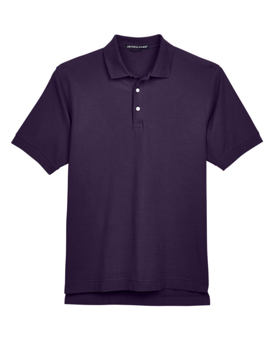 Deep Purple Devon & Jones Pima Pique Polo With Logo