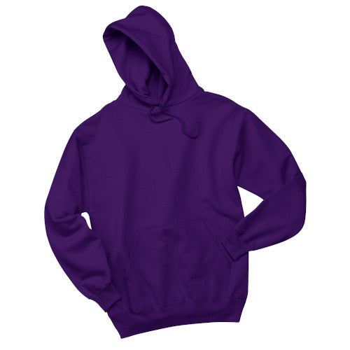 Deep Purple Custom Jerzees Hooded Sweatshirt