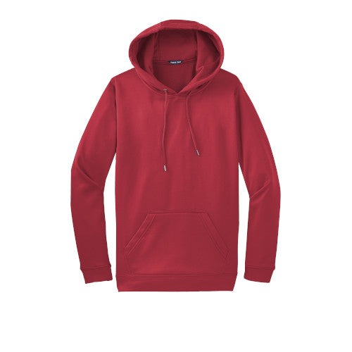 Deep Red Custom Dry Performance Hoodie Sweatshirt