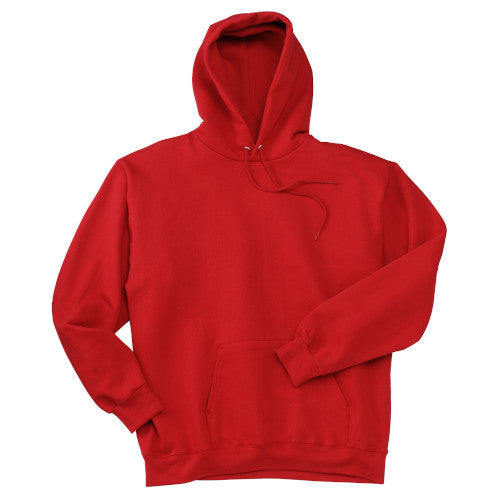 Deep Red Custom Hanes Hooded Sweatshirt