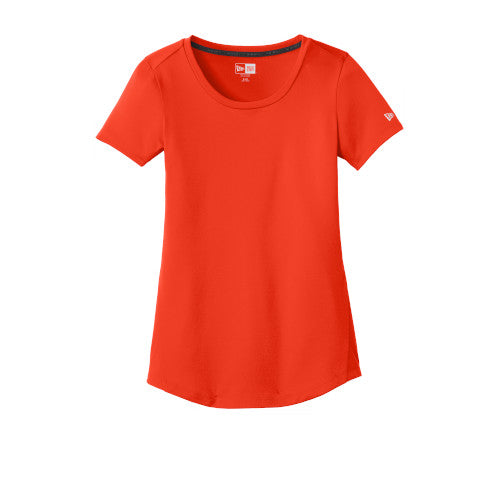 Deep Orange Custom New Era Ladies Series Performance Scoop Tee