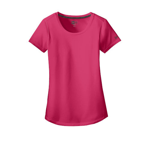 Deep Pink Custom New Era Ladies Series Performance Scoop Tee