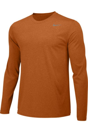 Desert Orange Custom Nike Dri-FIT Long Sleeve T-Shirt