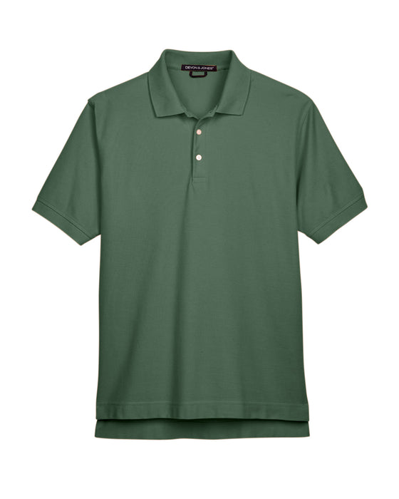 Dill Devon & Jones Pima Pique Polo With Logo