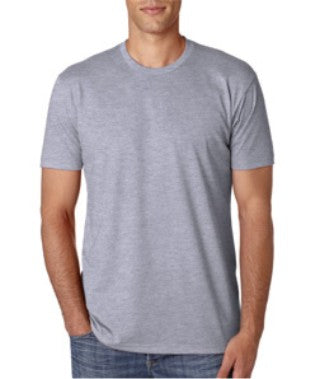 Dark Heather Gray Custom Next Level Premium T-Shirt