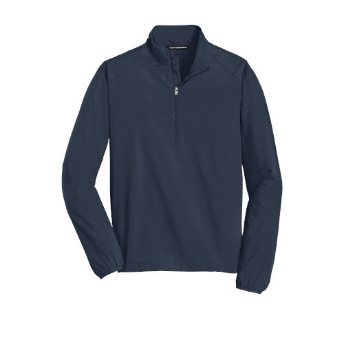 Dress Blue Navy Custom Half Zip Windshirt Jacket
