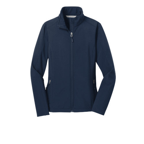 Dress Blue Navy Custom Ladies Soft Shell Jacket