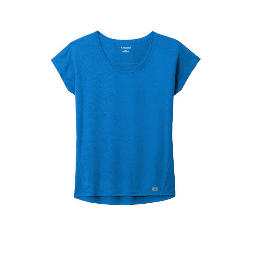 Electric Blue Custom Ogio Endurance Ladies Pulse Dolman Tee