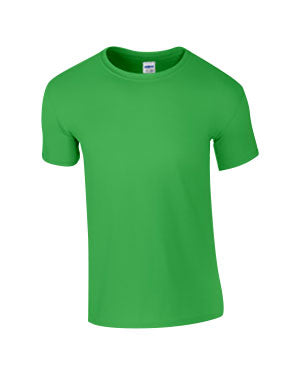 Electric Green Custom Gildan Soft Style T-Shirt