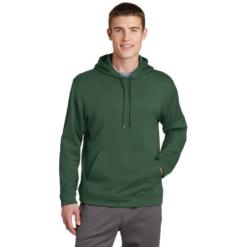 Forest Green Custom Dry Performance Hoodie Sweatshirt with logo