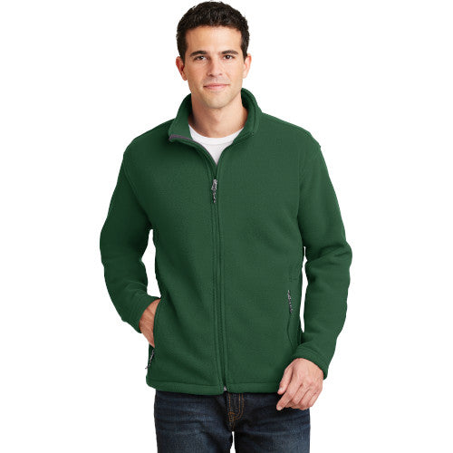 Forest Green Custom Full Zip Fleece Jacket Sweatshirt with logo