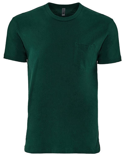 Forest Green Custom Next Level Unisex Pocket Crew