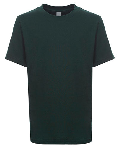 Forest Green Custom Next Level Youth Boys' Cotton Crew
