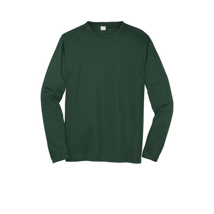Forest Green Custom Long Sleeve Dry Performance T-Shirt