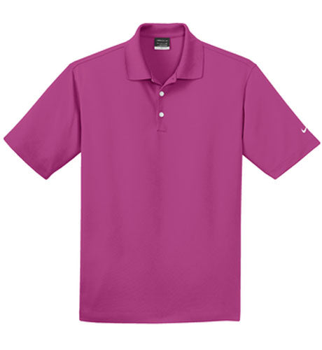 Fusion Pink Nike Dri-FIT Micro Pique Polo With Logo