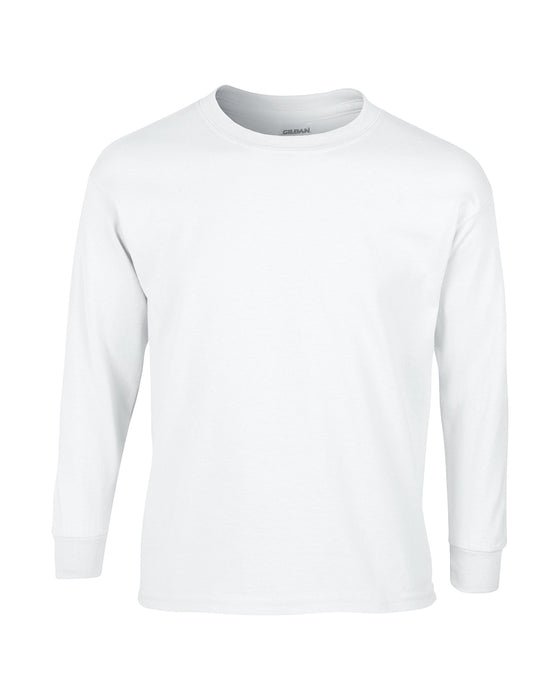 White Custom Gildan Long Sleeve T-Shirt