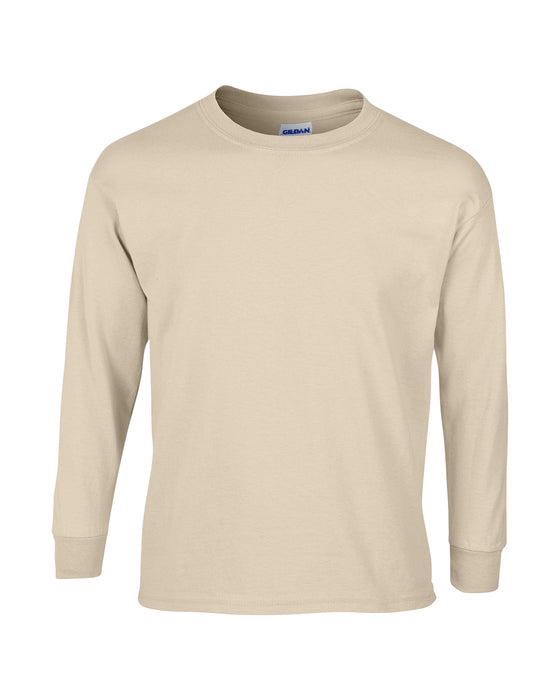 Sand Custom Gildan Long Sleeve T-Shirt
