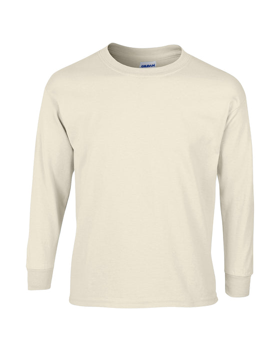 Natural Custom Gildan Long Sleeve T-Shirt