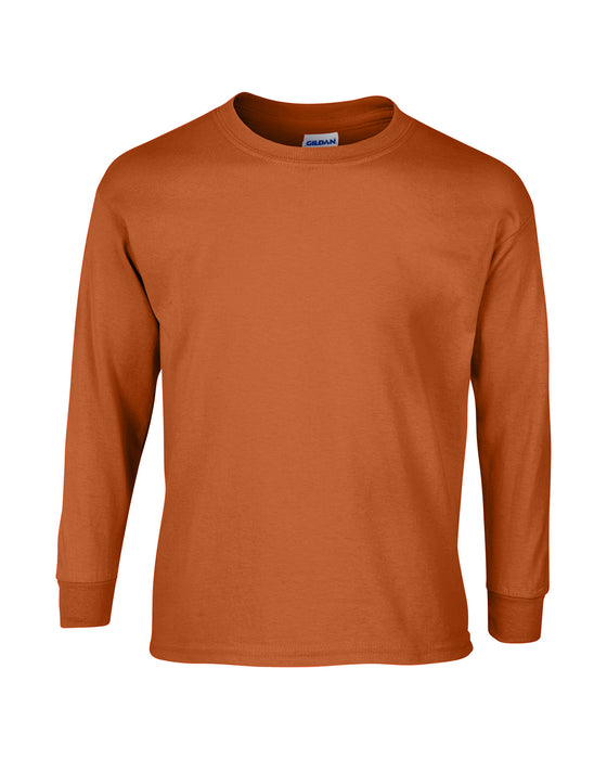 Texas Orange Custom Gildan Long Sleeve T-Shirt