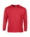 Red Custom Gildan Long Sleeve T-Shirt