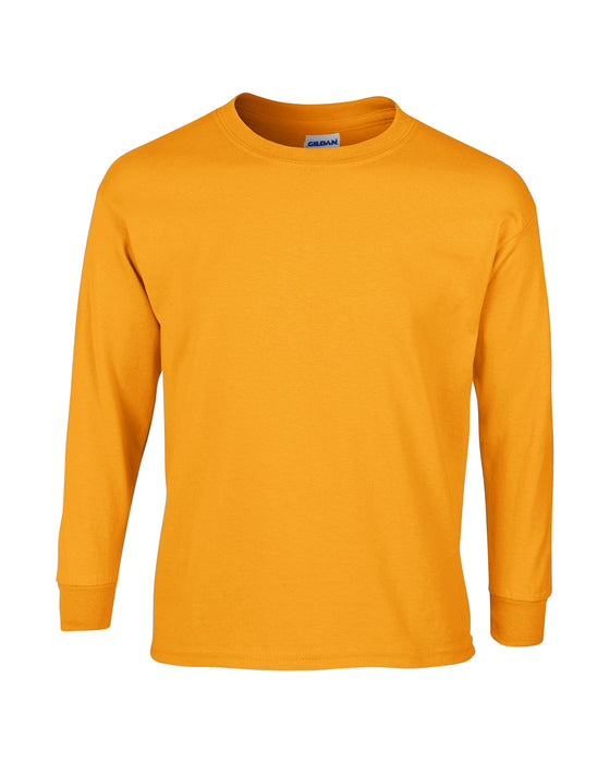Gold Custom Gildan Long Sleeve T-Shirt