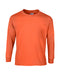 Safety Orange Custom Gildan Long Sleeve T-Shirt