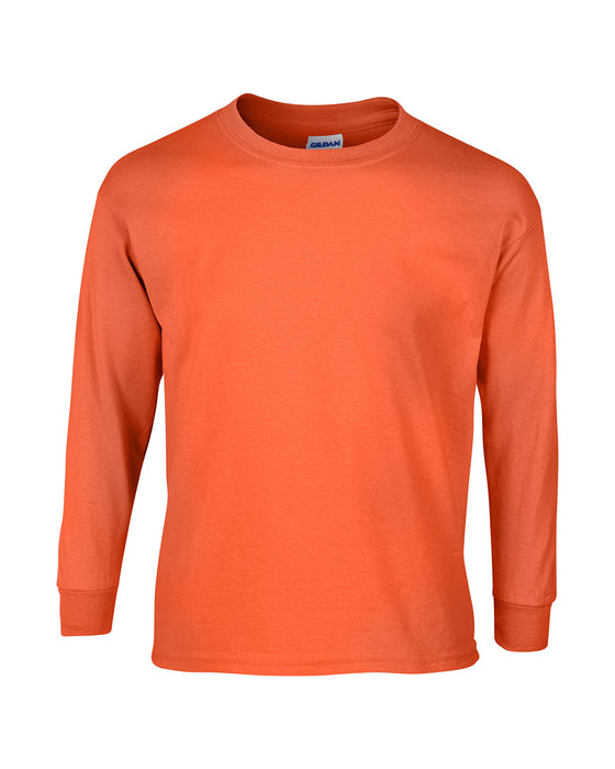 Orange Custom Gildan Long Sleeve T-Shirt