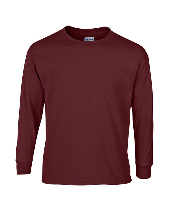Maroon Custom Gildan Long Sleeve T-Shirt