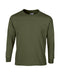 Military Green Custom Gildan Long Sleeve T-Shirt