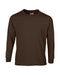 Dark Chocolate Custom Gildan Long Sleeve T-Shirt