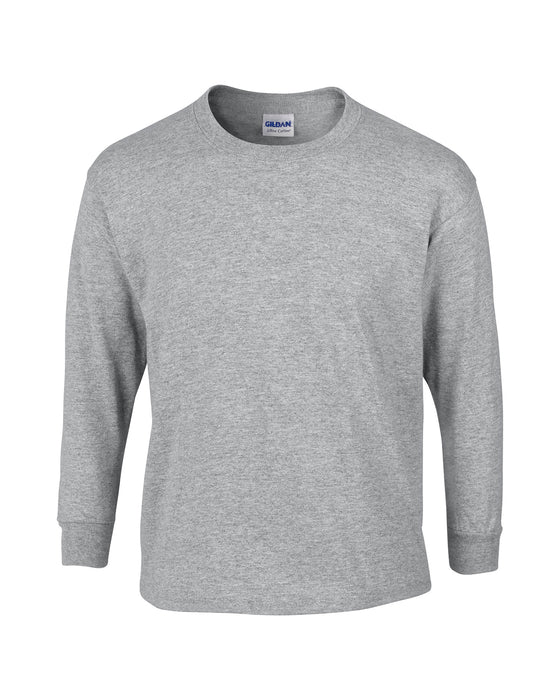 Sport Grey Custom Gildan Long Sleeve T-Shirt