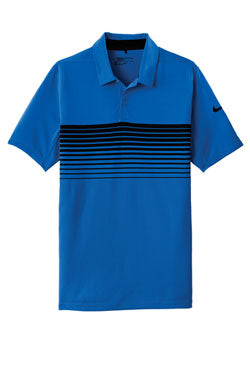 Game Royal Nike Dri-FIT Chest Stripe Polo With Logo