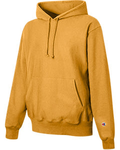 Gold Custom Champion Heavyweight Hooded Sweatshirt