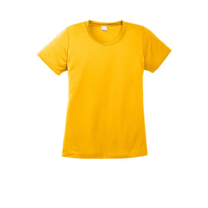 Gold Custom Ladies Dry Performance T-Shirt